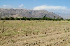 Giacimento arabile dell'aratro del paesaggio rurale Fotografia Stock Libera da Diritti