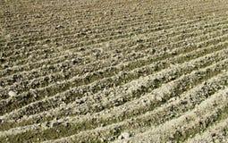 Giacimento arabile dell'aratro del paesaggio rurale Immagini Stock