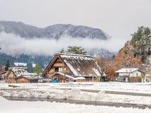 Giacimento congelato del riso in Shirakawa, Giappone Fotografie Stock
