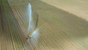 Giacimento d'innaffiatura dell'attrezzatura di irrigazione Siluetta dell'uomo Cowering di affari Irrigazione di Immagini Stock Libere da Diritti