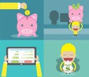 Giacimento dei soldi illustrazione di stock