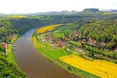 Giacimento del Canola in Germania Immagini Stock
