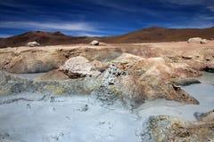 Giacimento del geyser del solenoide de manana, Bolivia Fotografia Stock