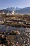 Giacimento del geyser di EL Tatio - Cile Fotografie Stock