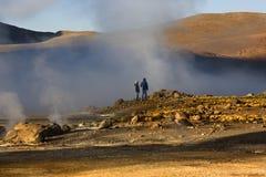 Giacimento del geyser di EL Tatio - Cile - Sudamerica Fotografie Stock Libere da Diritti