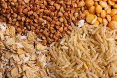 Giacimento detritico dei cereali come fine del mucchio su Fotografia Stock