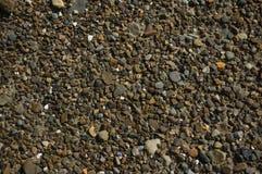 Giacimento detritico di piccole pietre Fotografia Stock
