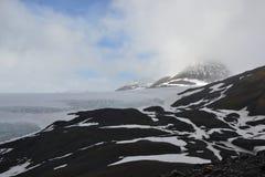 Giacimento di ghiaccio dell'Alaska Seward Harding Immagine Stock