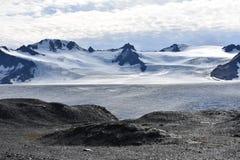 Giacimento di ghiaccio di Harding in Seward, Alaska fotografia stock libera da diritti