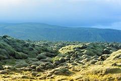 Giacimento di lava a Eldhraun Fotografia Stock