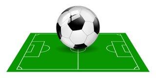 Giacimento di pallone da calcio isolato Immagine Stock Libera da Diritti