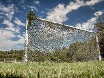 Giacimento di pallone da calcio rurale Fotografia Stock