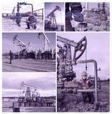 Giacimento di petrolio del collage Immagini Stock Libere da Diritti