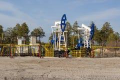 Giacimento di petrolio in Siberia fotografia stock