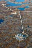 Giacimento di petrolio, vista superiore Immagine Stock
