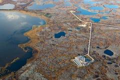 Giacimento di petrolio, vista superiore Immagine Stock Libera da Diritti