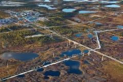Giacimento di petrolio, vista superiore Fotografia Stock Libera da Diritti