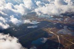 Giacimento di petrolio, vista superiore Fotografie Stock Libere da Diritti