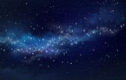 Giacimento di stella nello spazio cosmico immagini stock