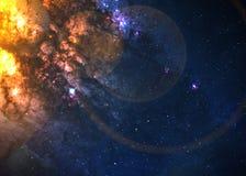 Giacimento di stella nello spazio profondo Fotografie Stock