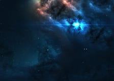 Giacimento di stella nello spazio profondo molti anni luci lontani Fotografie Stock Libere da Diritti
