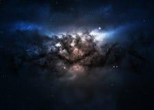 Giacimento di stella nello spazio profondo molti anni luci lontani Fotografia Stock