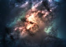 Giacimento di stella nello spazio profondo molti anni luci lontani Immagini Stock Libere da Diritti
