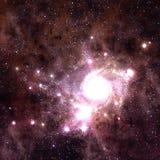 Giacimento di stella nello spazio profondo molti anni luci lontano da Immagine Stock