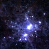 Giacimento di stella nello spazio profondo molti anni luci lontano da Immagine Stock Libera da Diritti