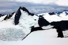 Giacimento e ghiacciaio di ghiaccio spettacolari di Juneau Fotografia Stock Libera da Diritti