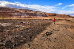 Giacimento geotermico Fotografia Stock Libera da Diritti
