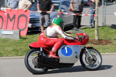 Giacomo Agostini Retro Motor Tuebingen Στοκ εικόνα με δικαίωμα ελεύθερης χρήσης