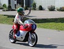 Giacomo Agostini Retro Motor Tuebingen Στοκ φωτογραφίες με δικαίωμα ελεύθερης χρήσης
