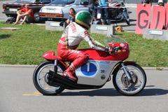 Giacomo Agostini Retro Motorowy Tuebingen Obraz Royalty Free