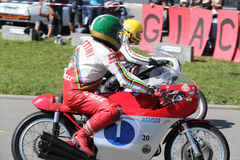 Giacomo Agostini Retro Motorowy Tuebingen Fotografia Stock