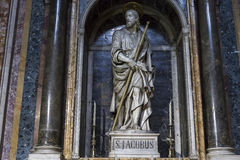 Сан Giacomo в церков Augusta, Риме, Италии Стоковое фото RF