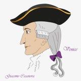 Giacomo Casanova Imagen de archivo libre de regalías