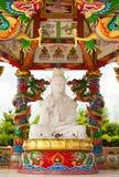 Giada bianca Guan Yin Fotografia Stock