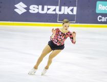 Giada Russo during the Italian Championship 2018 in the Agorà Ice Palace, second classified on December, 2017, in Royalty Free Stock Photo