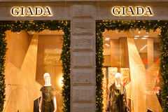 Giada shop in Quadrilatero dOro Royalty Free Stock Photo