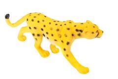 giaguaro del giocattolo isolato su un fondo bianco immagini stock libere da diritti