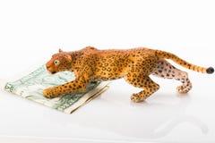 Giaguaro e dollaro del giocattolo Immagini Stock Libere da Diritti