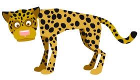 Giaguaro in modo divertente illustrazione di stock