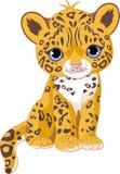 Giaguaro sveglio Cub illustrazione di stock