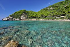 Gialiskari Beach in Corfu Greece Royalty Free Stock Image