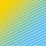 Giallo astratto e blu del fondo Fotografie Stock