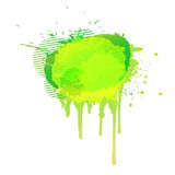 Giallo astratto variopinto del fondo dell'acquerello verde chiaro Vettore Fotografia Stock