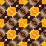 Giallo beige audace di Taupe della carta da imballaggio della stampa del tessuto del fondo di Ikat Dots Seamless Pattern Abstract Immagini Stock