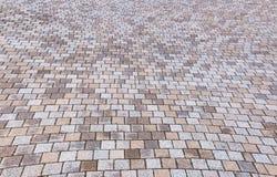 Giallo bitonale e Gray Brick Stone sulla terra per la via Roa Immagine Stock