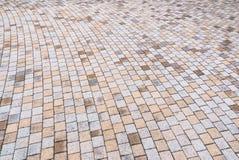 Giallo bitonale e Gray Brick Stone sulla terra per la via Roa Fotografia Stock Libera da Diritti